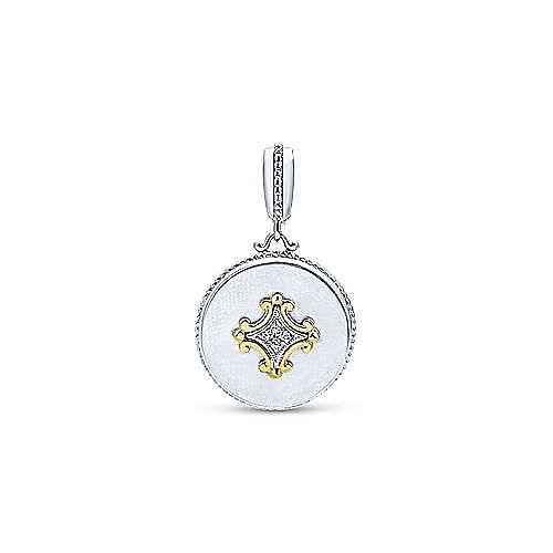 925 Silver And 18k Yellow Gold Roman Fashion Pendant angle 1
