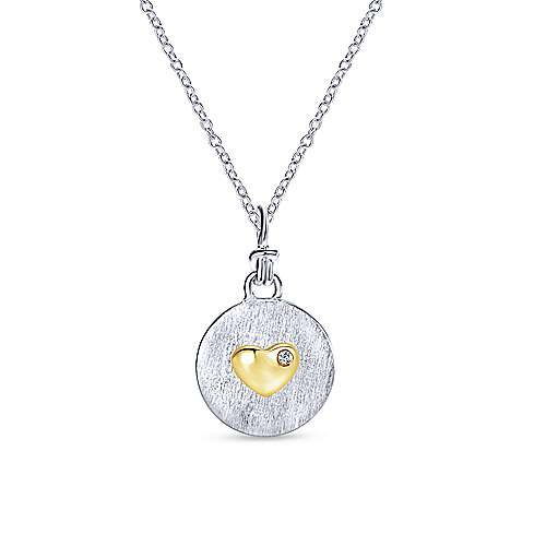 925 Silver And 18k Yellow Gold Treasure Chests Charm Pendant angle 3