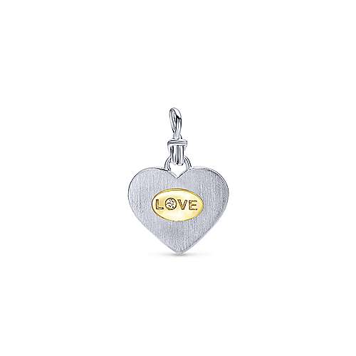 Gabriel - 925 Silver And 18k Yellow Gold Treasure Chests Charm Pendant