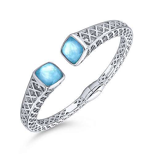 925 Silver And Stainless Steel Temptation Bangle angle 2