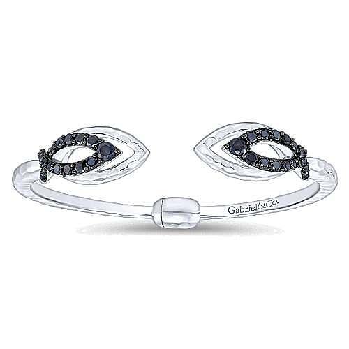 925 Silver Black Spinal Bangle
