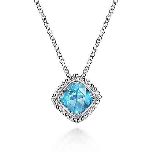 Gabriel - 925 Silver Blue Topaz Necklace