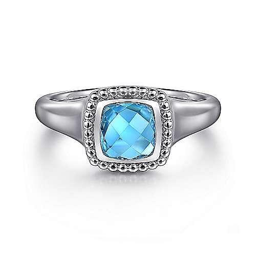 Gabriel - 925 Silver Blue Topaz Ring