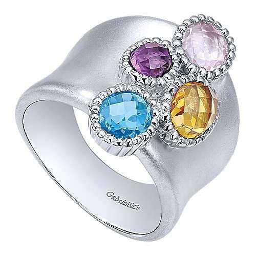 925 Silver Bujukan Fashion Ladies' Ring angle 3