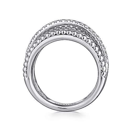 925 Silver Bujukan Wide Band Ladies' Ring angle 2