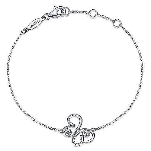 925 Silver Butterfly Bracelet angle 1