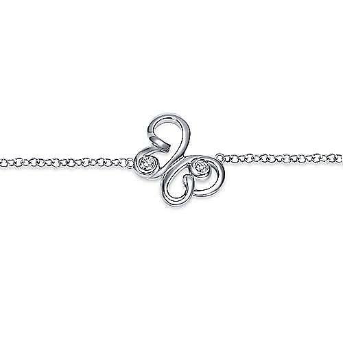 925 Silver Butterfly Bracelet angle 2