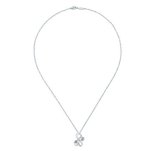 925 Silver Butterfly Necklace angle 2
