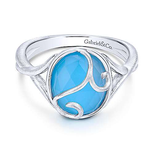 925 Silver Color Solitaire Fashion Ladies' Ring angle 1