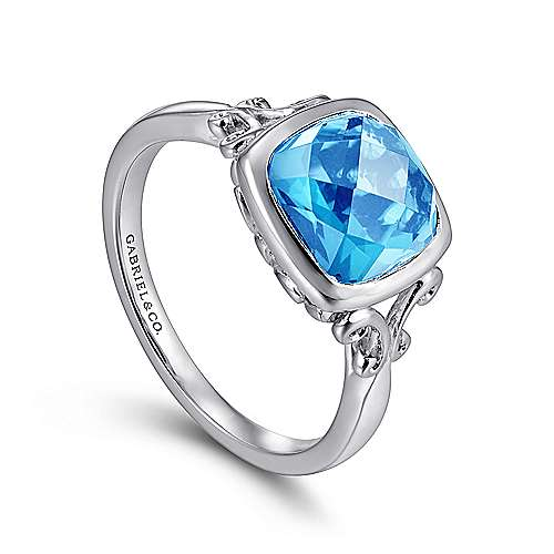 925 Silver Color Solitaire Fashion Ladies' Ring angle 3