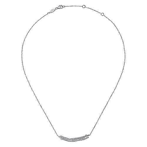 925 Silver Contemporary Bar Necklace angle 2