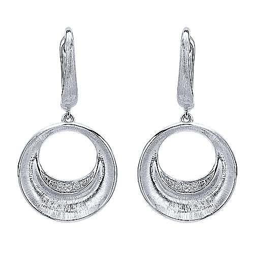 Gabriel - 925 Silver Contemporary Drop Earrings