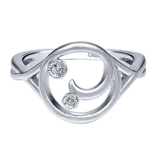 925 Silver Contemporary Fashion Ladies' Ring angle 1