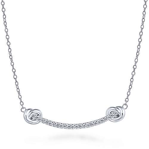 925 Silver Contemporary Fashion Necklace