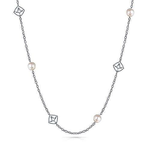 925 Silver Contemporary Fashion Necklace angle 1