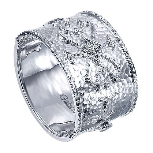 925 Silver Diamond Bangle