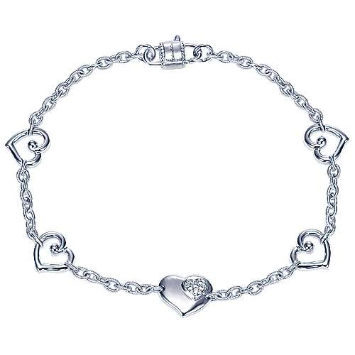 925 Silver Eternal Love Chain Bracelet angle 1
