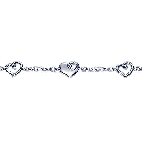 925 Silver Eternal Love Chain Bracelet angle 2