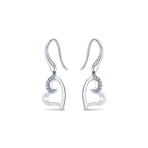 925 Silver Eternal Love Drop Earrings angle 2
