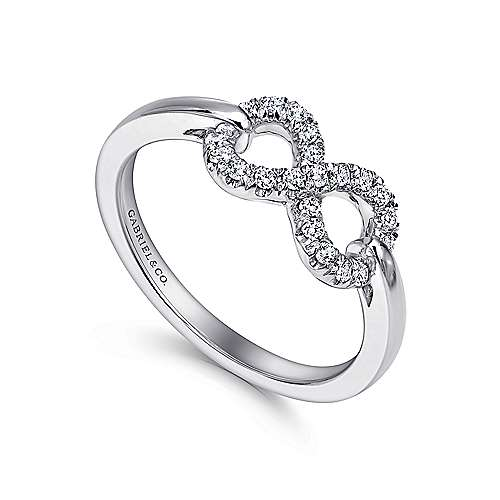925 Silver Eternal Love Fashion Ladies' Ring angle 3