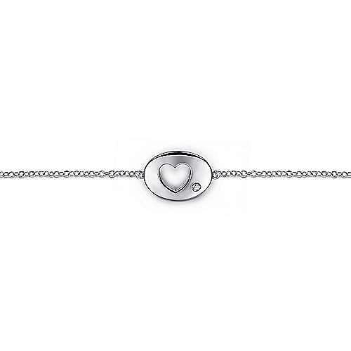 925 Silver Eternal Love Heart Bracelet angle 2
