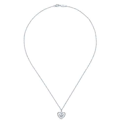925 Silver Eternal Love Heart Necklace angle 2