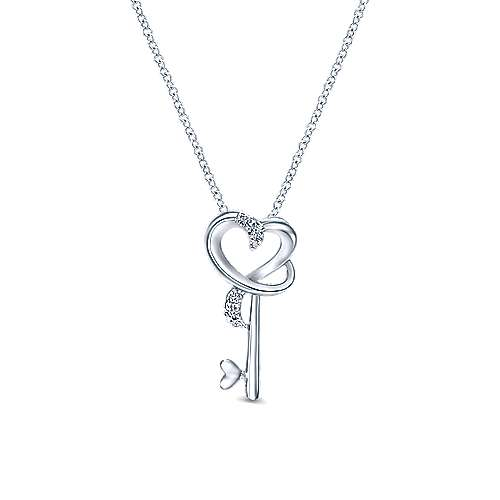 925 Silver Eternal Love Key Necklace