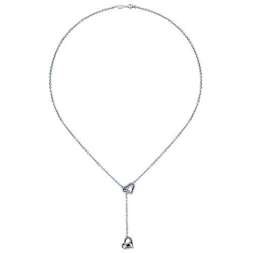 925 Silver Eternal Love Lariat Necklace angle 2