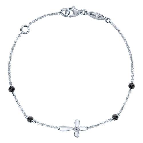 925 Silver Faith Cross Bracelet