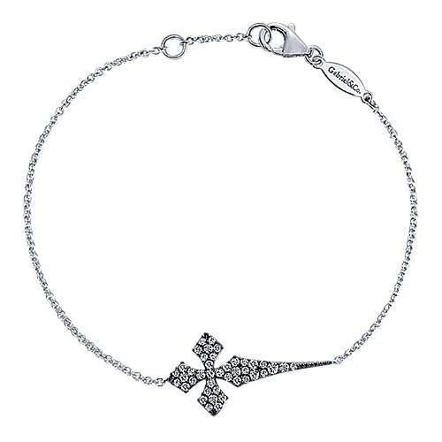 925 Silver Faith Cross Bracelet