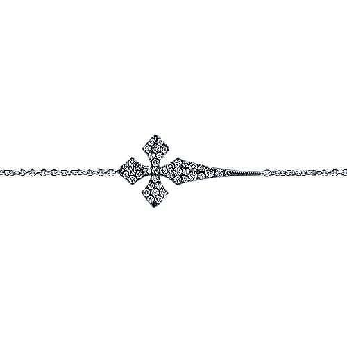 925 Silver Faith Cross Bracelet angle 2
