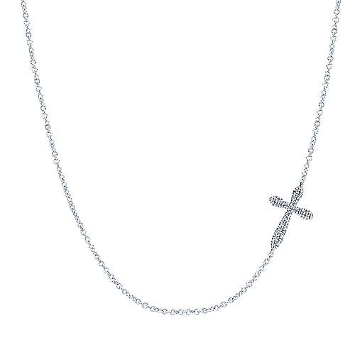 925 Silver Faith Cross Necklace angle 1