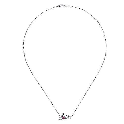 925 Silver Fashion A Quality Ruby Necklace