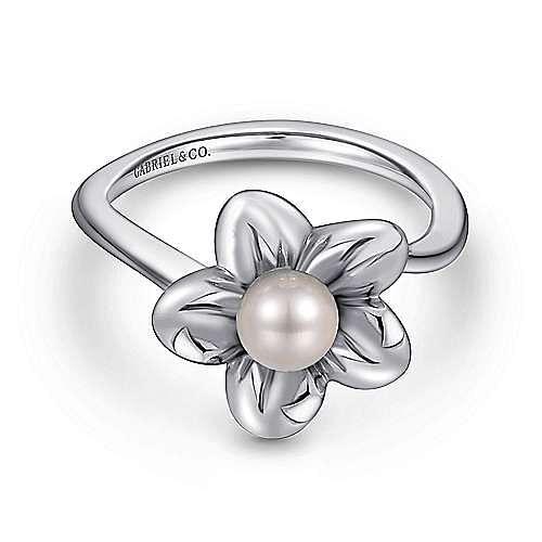 Gabriel - 925 Silver Floral Fashion Ladies' Ring