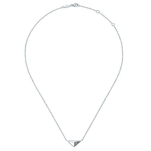 925 Silver Front Row Fashion Necklace angle 2