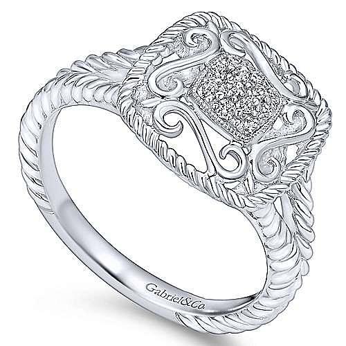 925 Silver Hampton Fashion Ladies' Ring angle 3