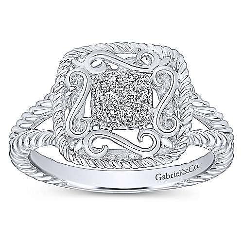 925 Silver Hampton Fashion Ladies' Ring angle 4