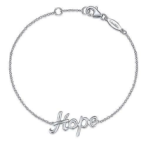 925 Silver Hope Chain Bracelet