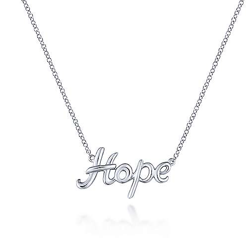 925 Silver Hope Fashion Necklace