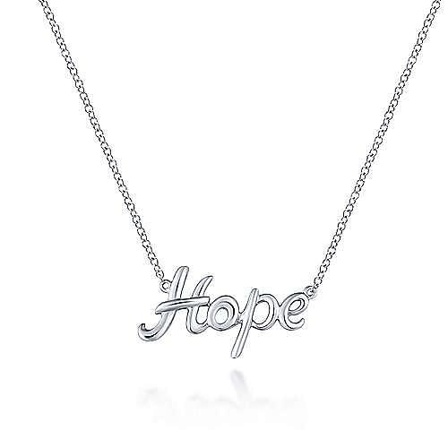 925 Silver Hope Fashion Necklace angle 1