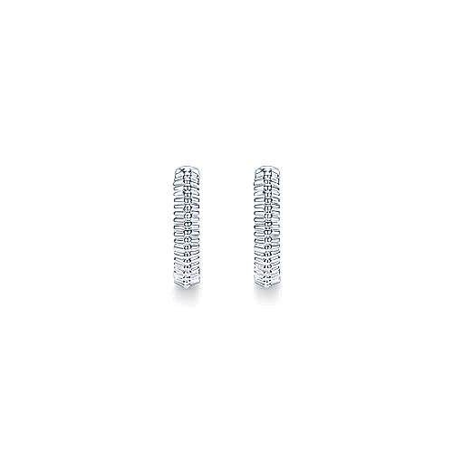 925 Silver Huggies Huggie Earrings angle 3