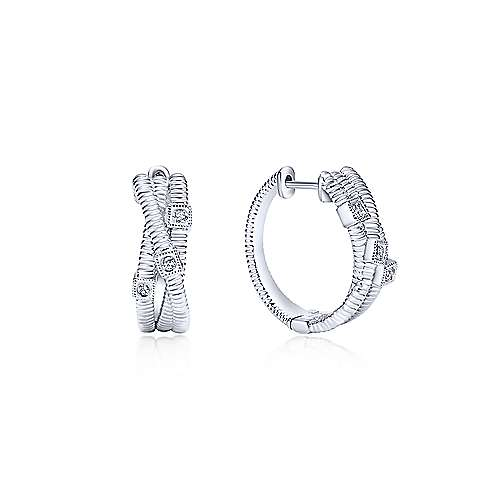 Gabriel - 925 Silver Huggies Huggie Earrings