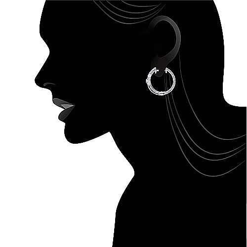 925 Silver Huggies Huggie Earrings angle 4