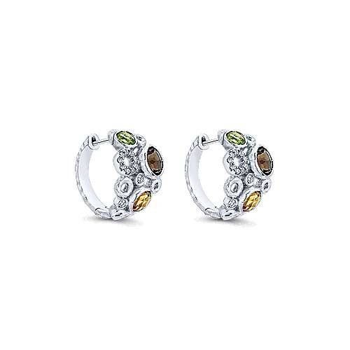 925 Silver Huggies Huggie Earrings angle 1