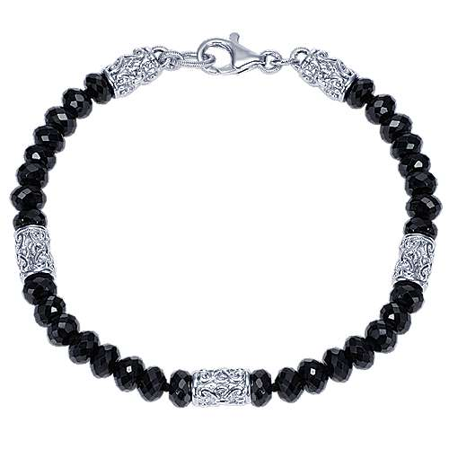 925 Silver Infinite Gems Beads Bracelet angle 1