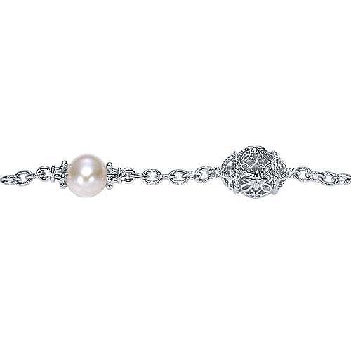925 Silver Infinite Gems Chain Bracelet angle 2