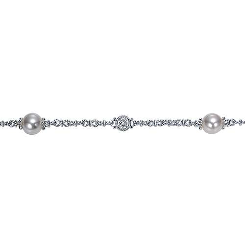 925 Silver Infinite Gems Chain Bracelet angle 2