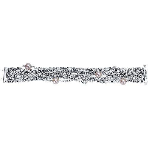 925 Silver Infinite Gems Chain Bracelet angle 3