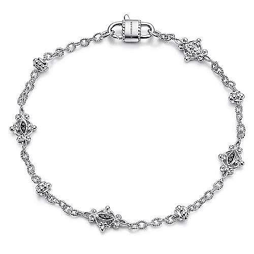 925 Silver Infinite Gems Chain Bracelet angle 1