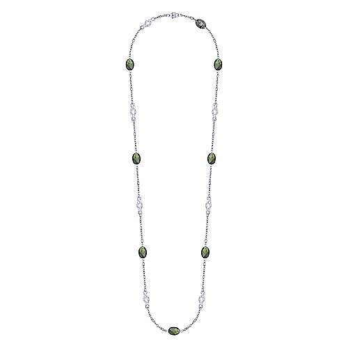 925 Silver Infinite Gems Fashion Necklace angle 2